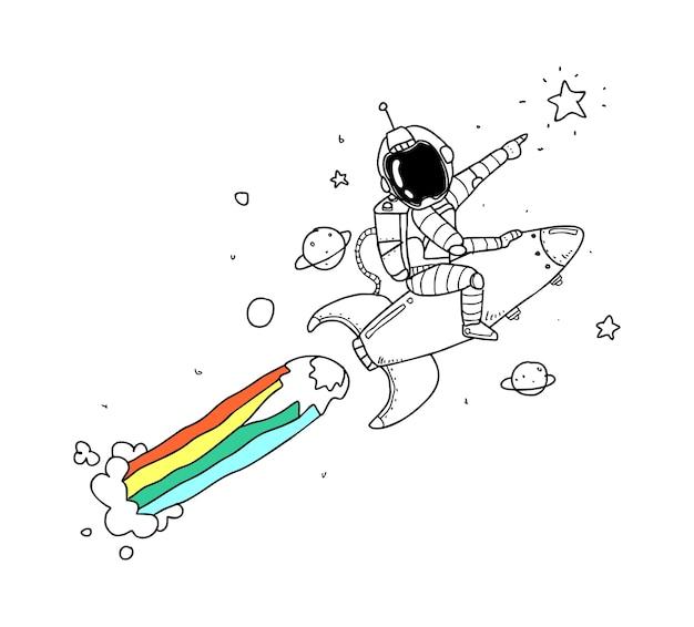 Desenho da mão do astronauta