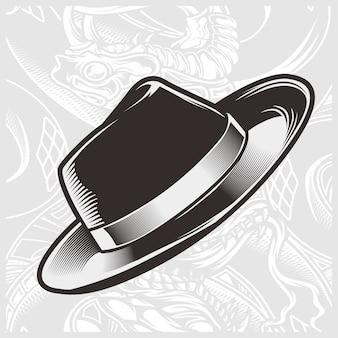 Desenho da mão do chapéu