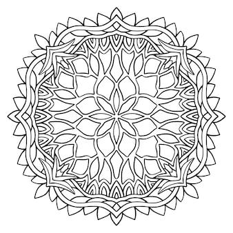Desenho da página do livro mandala ornamental para colorir