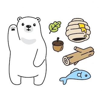 Desenho de abelha de urso polar