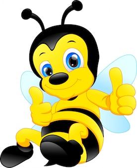Desenho de abelha engraçado