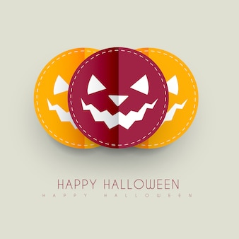 Desenho de abóbora de estilo de papel de halloween