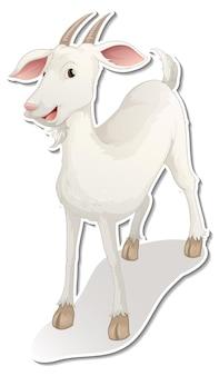 Desenho de adesivo com um personagem de desenho animado de cabra