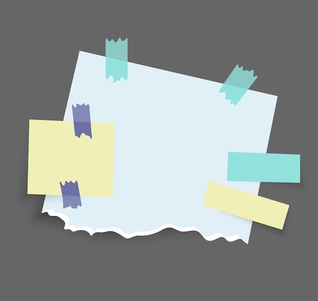 Desenho de adesivos de notas de papel
