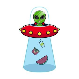 Desenho de alienígena fofinho para comer