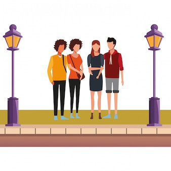 Desenho de amigos de casal