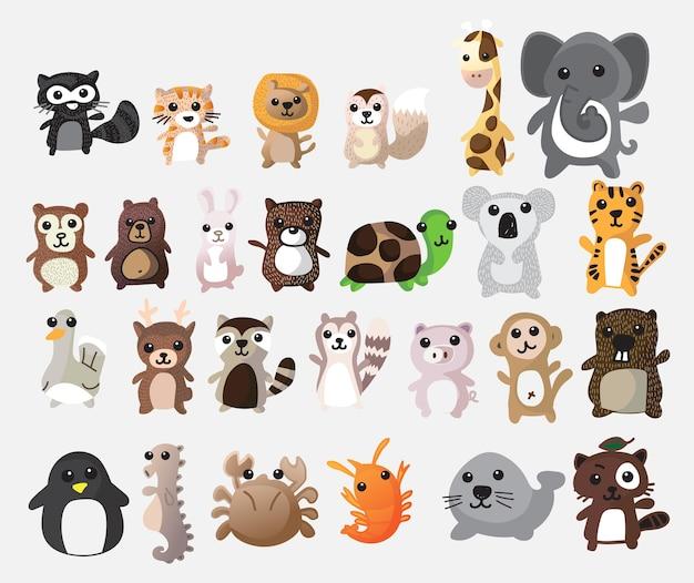 Desenho de animais fofos. imagem do vetor da ilustração.
