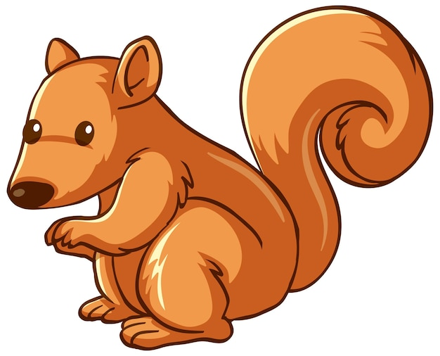 Desenho de animal de esquilo em fundo branco