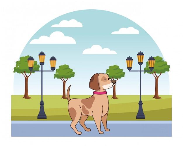 Desenho de animal de estimação de filhote de cachorro bonito