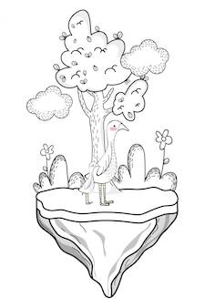 Desenho de animal selvagem de ganso
