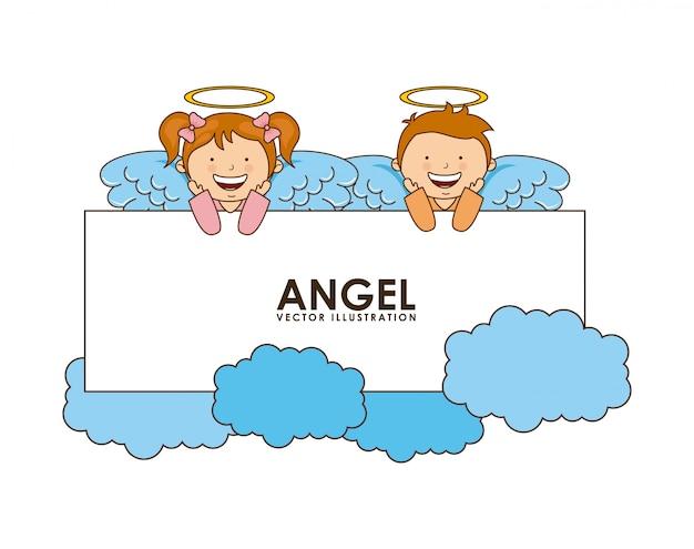 Desenho de anjo
