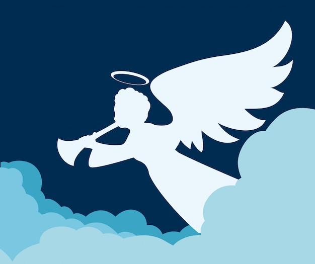 Desenho de anjo.