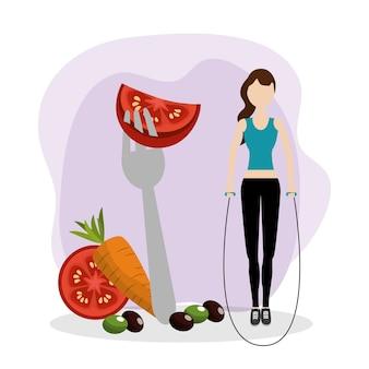 Desenho de aptidão de saúde