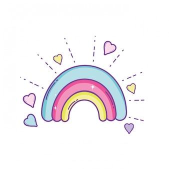 Desenho de arco-íris bonito