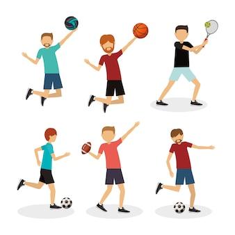 Desenho de avatar de atleta
