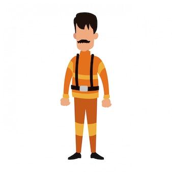 Desenho de avatar de bombeiro