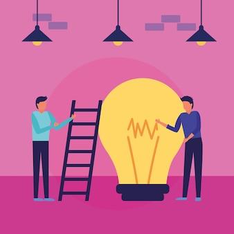 Desenho de avatar de empresários