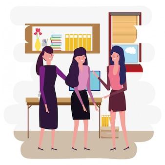 Desenho de avatar de mulheres de negócios