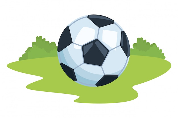 Desenho de balão de futebol