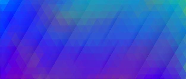 Desenho de banner abstrato azul vibrante com padrão de triângulo