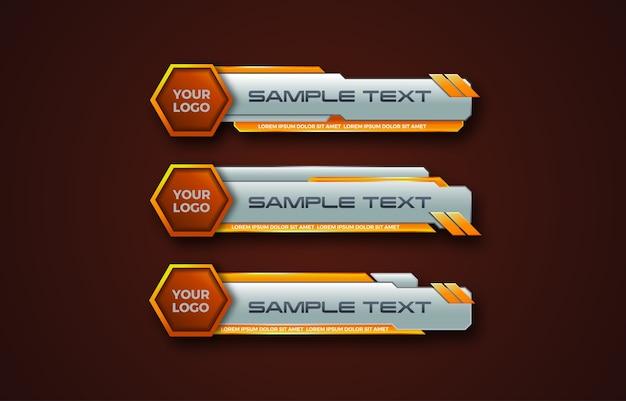 Desenho de banner abstrato futurista hexagonal inferior no terço inferior