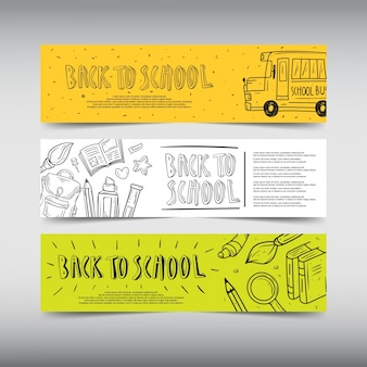 Desenho de banner background back to school