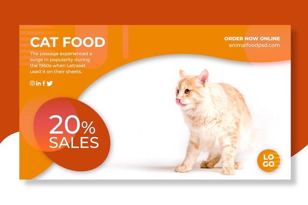 Desenho de banner de comida animal