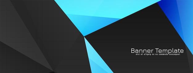 Desenho de banner de estilo geométrico abstrato