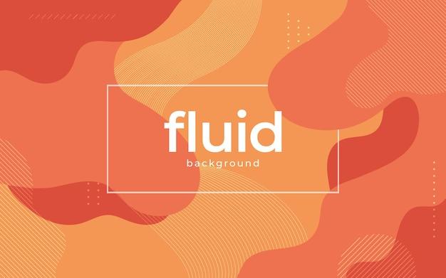 Desenho de banner de fundo de forma fluida laranja