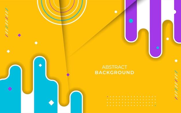Desenho de banner de fundo de formas geométricas planas coloridas abstratas