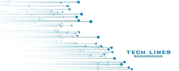 Desenho de banner de linhas de tecnologia abstrata