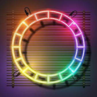 Desenho de banner de néon circular