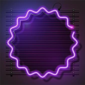 Desenho de banner de néon roxo