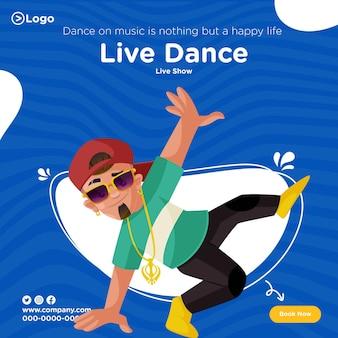 Desenho de banner de show de dança ao vivo