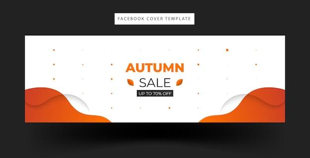 Desenho de banner de venda de outono com formas de onda