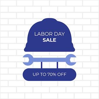 Desenho de banner de venda do dia do trabalho