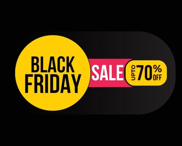 Desenho de banner de venda sexta-feira negra