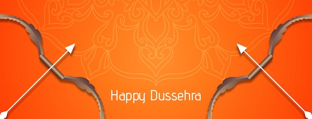 Desenho de banner decorativo brilhante do happy dussehra