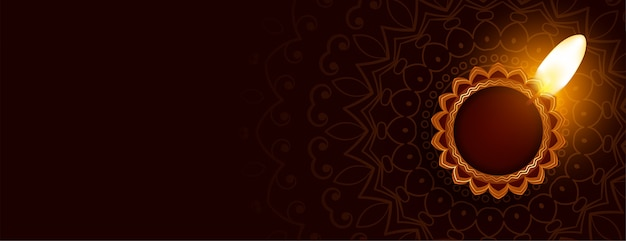 Desenho de banner decorativo tradicional diwali feliz diya