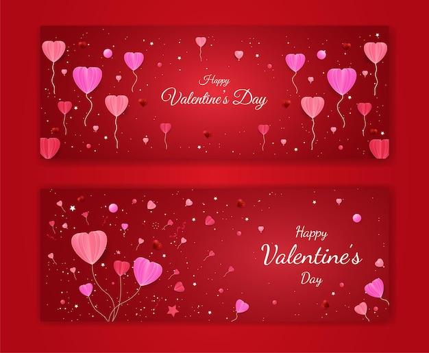 Desenho de banner do dia dos namorados com formato de amor cortado em papel