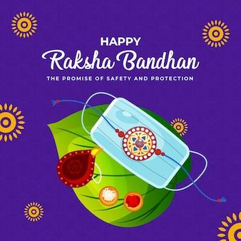 Desenho de banner do feliz modelo de festival indiano raksha bandhan