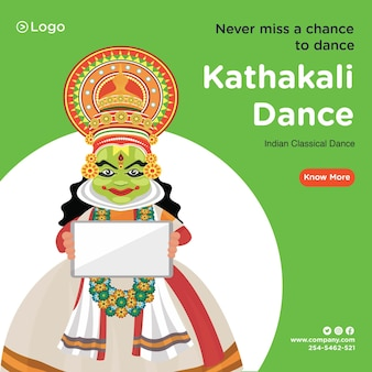 Desenho de banner do modelo de dança clássica kathakali