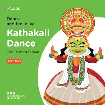 Desenho de banner do modelo de dança kathakali