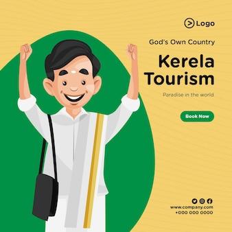 Desenho de banner do turismo kerela