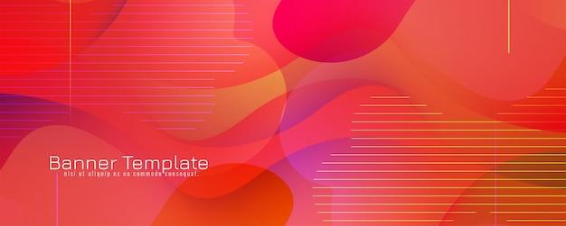 Desenho de banner moderno colorido abstrato
