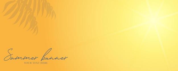 Desenho de banner panorâmico de palmeira tropical