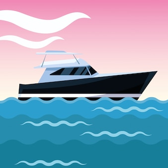 Desenho de barco iate