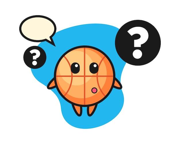 Desenho de basquete com o ponto de interrogação