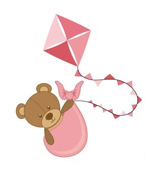 Desenho de bebê sobre ilustração vetorial de fundo branco