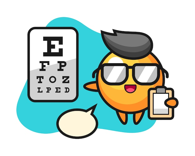Desenho de bola de pingue-pongue como oftalmologia